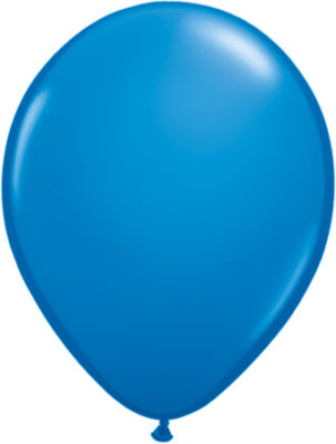 Latexballon in blau